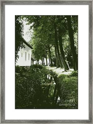Dutch Canal - Digital Framed Print