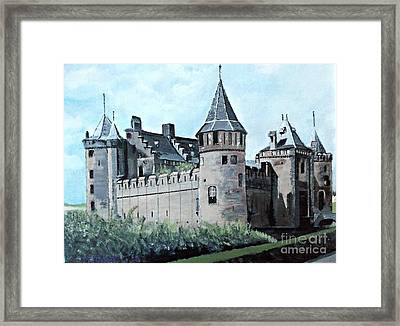 Dutch Castle In Muiden Framed Print