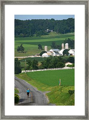 Dutch Country Bike Ride Framed Print by Lawrence Boothby