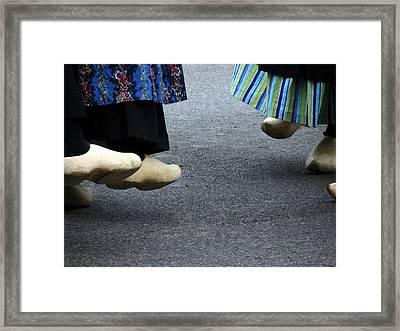 Dutch Dancers In Holland Framed Print by Michelle Calkins