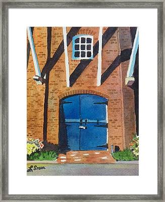 Framed Print featuring the painting Dutch Door by LeAnne Sowa