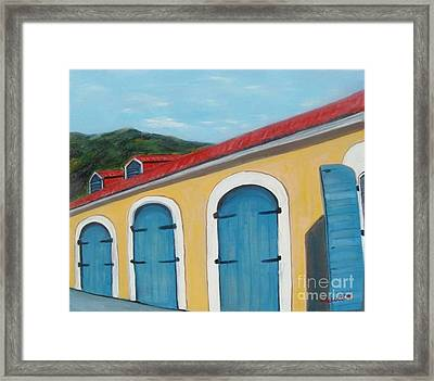 Dutch Doors Of St. Thomas Framed Print