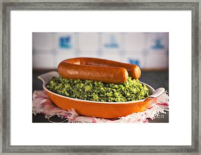 Dutch Food Kale With Smoked Sausage Or Boerenkool Met Worst Framed Print