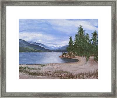 Dutch Harbour, Kootenay Lake Framed Print