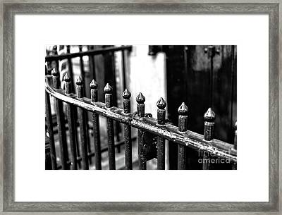 Dutch Iron Mono Framed Print by John Rizzuto