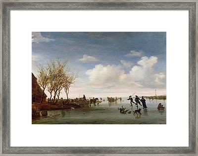 Dutch Landscape With Skaters Framed Print
