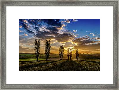 Dutch Moutains At Sunset Framed Print