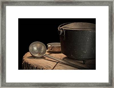 Dutch Oven And Ladle Framed Print