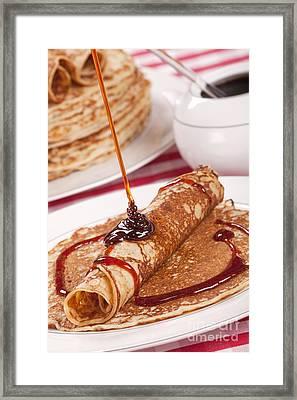 Dutch Pancakes With Syrup Or 'pannenkoeken Met Stroop' Framed Print