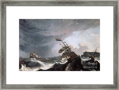Dutch Warships In Trouble Off Gibraltar Framed Print by MotionAge Designs