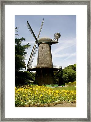 Dutch Windmill Framed Print by Sonja Anderson