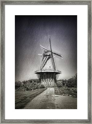 Dutch Windmill Framed Print by Tom Mc Nemar