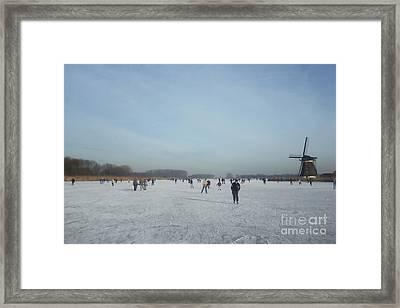 Dutch Winter Landscape Framed Print by Jan Daniels