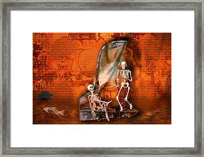 Dutchman Runs Aground Framed Print