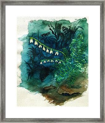Dutchman's Breeches Framed Print by Diana Ludwig