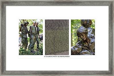 Duty To Remember Framed Print by David Bearden