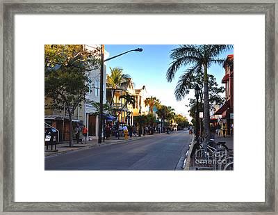 Duval Street In Key West Framed Print by Susanne Van Hulst