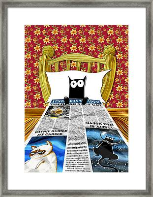 Duvet Cover Framed Print by Andrew Hitchen