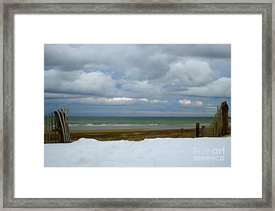 Duxbury Beach 3rd Crossover Framed Print by Amazing Jules