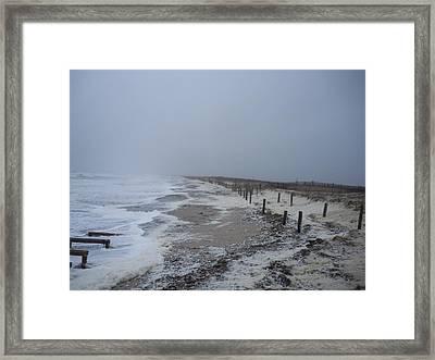 Framed Print featuring the photograph Duxbury Beach Foam 2 by Conor Murphy