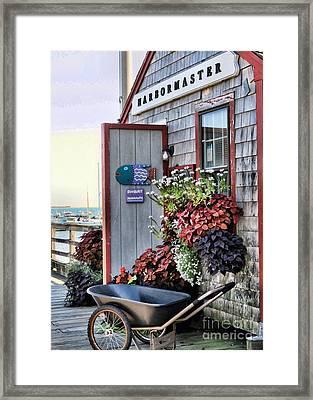 Duxbury Harbormaster Shack  Framed Print