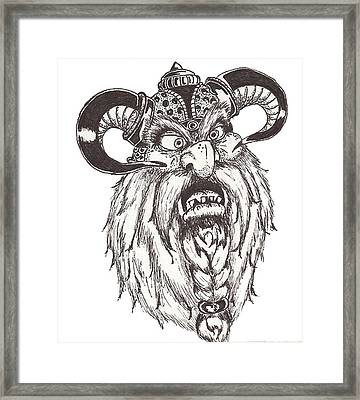Dwarf Berserker Framed Print by Law Stinson
