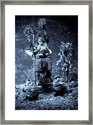 Dwarven Holy Anvil Framed Print by Marc Garrido
