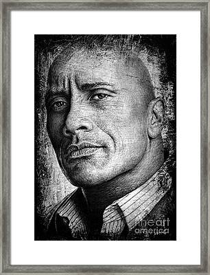 Dwayne Johnson Framed Print by Andrew Read