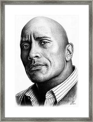 Dwayne The Rock Johnson Framed Print