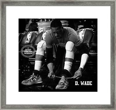 Dwayne Wade Framed Print by Jerome Lynch
