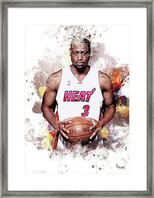 Dwayne Wade, Miami Heat Framed Print