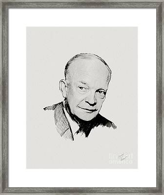 Dwight D Eisenhower Framed Print by Charles Thayer