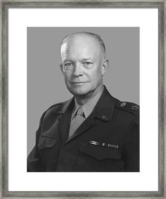 Dwight D. Eisenhower  Framed Print by War Is Hell Store