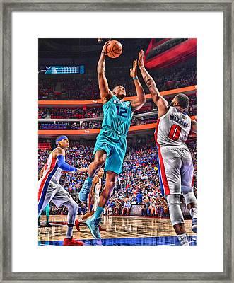 Dwight Howard Charlotte Hornets Player Art 2 Framed Print