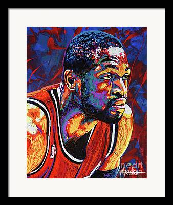 Dwyane Wade Framed Prints
