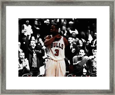 Dwyane Wade 3 Point Dagger Framed Print