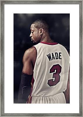 Dwyane Wade Basketball Player Miami Heat 3 Nba 94076 800x1280 Framed Print
