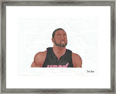 Dwyane Wade Framed Print