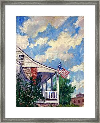 Dyckman House Nyc Framed Print
