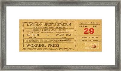 Framed Print featuring the photograph Dyckman Oval Ticket by Cole Thompson