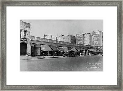 Framed Print featuring the photograph Dyckman Street, 1927 by Cole Thompson