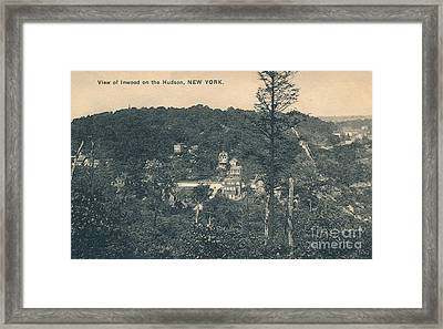 Dyckman Street At Turn Of The Century Framed Print