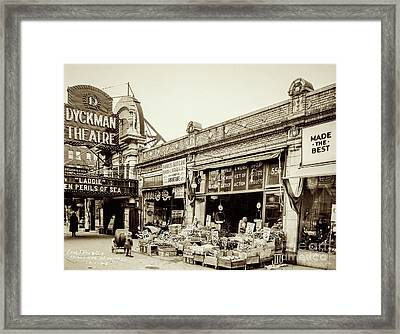 Framed Print featuring the photograph Dyckman Theater, 1926 by Cole Thompson