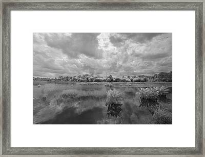 Dyer Pond Framed Print by Jon Glaser
