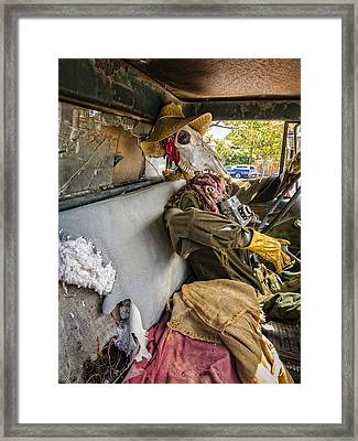 Dying For The Shot Framed Print by Caitlyn Grasso