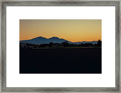 Dying Of The Day Framed Print