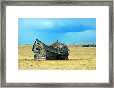 Dying Old Barn Framed Print