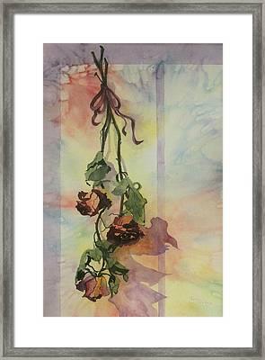 Dying Roses Framed Print