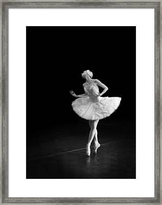 Dying Swan 3 Alternate Crop Framed Print