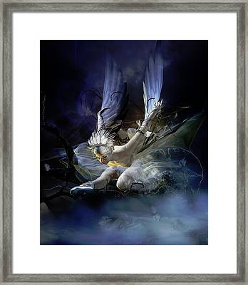 Dying Swan Framed Print by Mary Hood